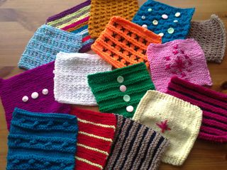 Blanket squares with embellishment