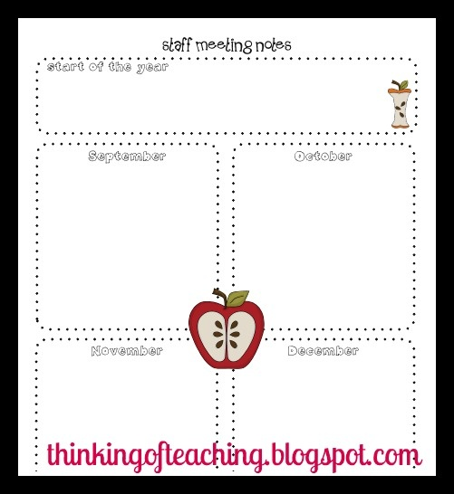 Thinking of Teaching: Teacher Planning Binder: Information and Forms (Freebie!)