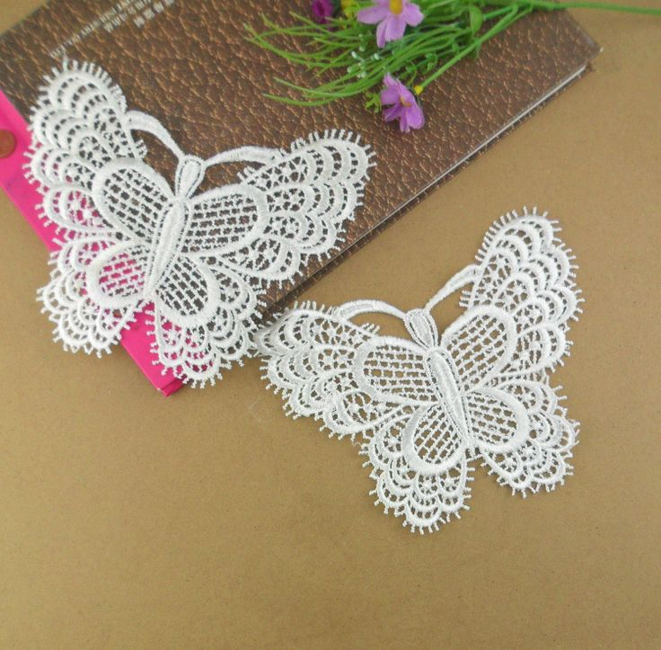 30pcs flower butterfly polyester lace design Accessories embroidery lace embroidery patch flower lower patches for clothes