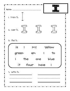 KINDERGARTEN SIGHT WORD PRACTICE SHEETS! - TeachersPayTeachers.com