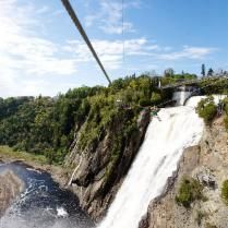 The Parc de la Chute-Montmorency is located just minutes from Quebec City. Between river and cliffs, this is one of the most spectacular sites in the province.