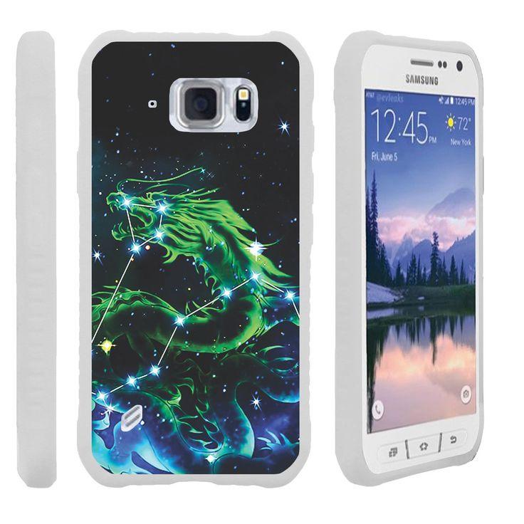 Galaxy S6 Active FLEX FORCE Flexible Slim Fit Case - Dragon Stars