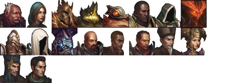 Various Diablo 3 Portraits