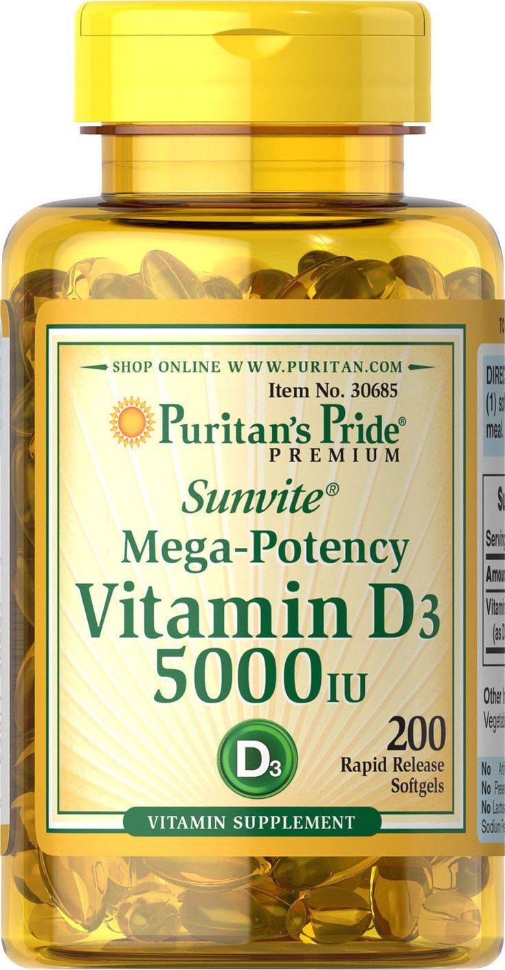 Puritan's Pride Mega-Potency Vitamin D3 5000 IU (200 Softgels) Description Vitamin D is essential to the body because of its role in calcium absorpt... #vitamin #softgels #potency #mega #pride #puritans