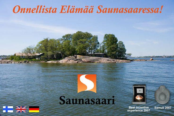 Saunaisland just front of Helsinki