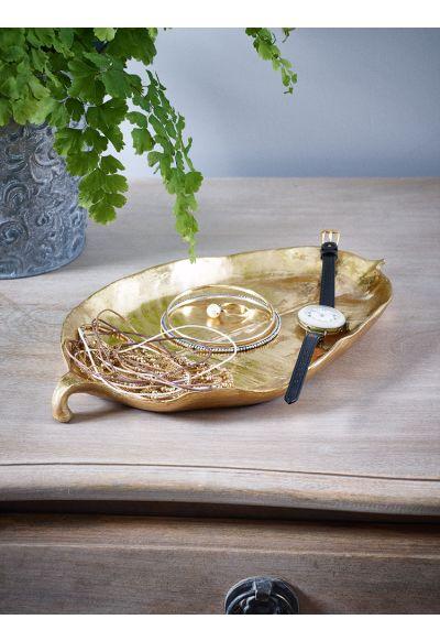 Gold Leaf Trinket Dish - Bed & Bath - Indoor Living