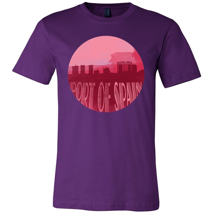 Port of Spain Skyline Horizon Sunset Capital Trinidad Shirt