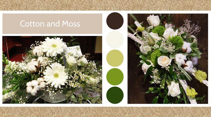 Cotton & Moss style board by Le Bouquet Weddings | Le Bouquet St-Laurent Florist