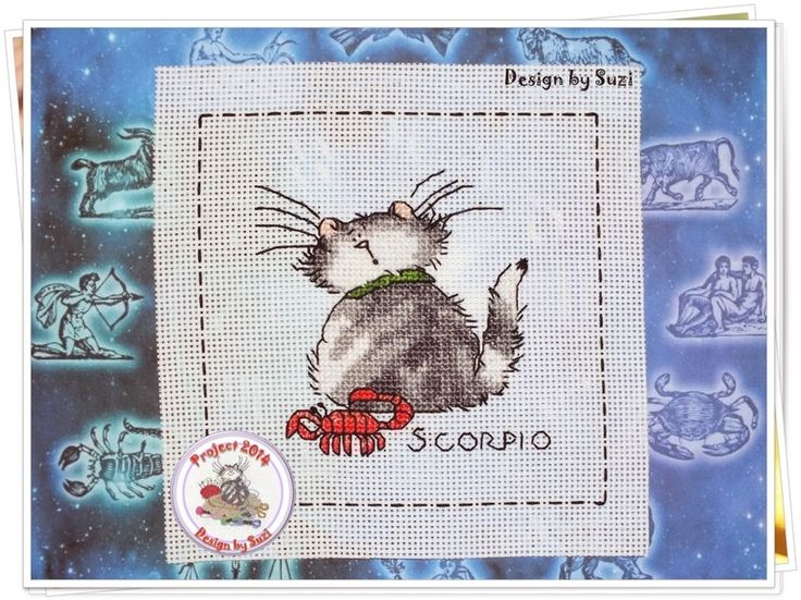 Project 2014: 32/40 Scorpio (Margaret Sherry-Cattitude Horoscopes)