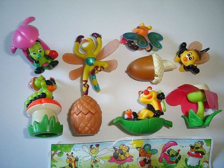 Details about KINDER SURPRISE SET BUGS IN THE MEADOW