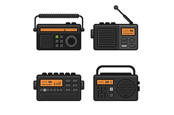 Radio Icon Set by in8finity on @Graphicsauthor