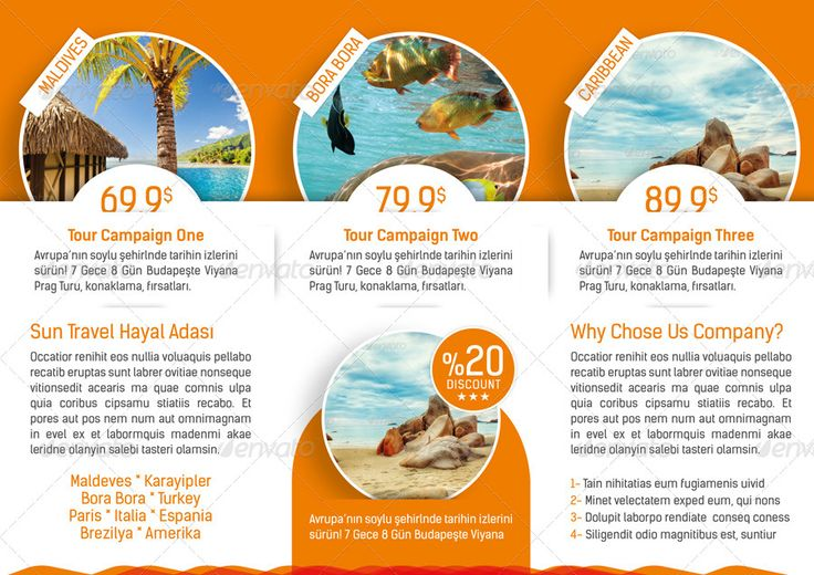 Travel Agency Flyers Sample  BesikEightyCo