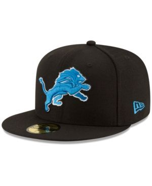 New Era Detroit Lions Team Basic 59FIFTY Fitted Cap - Black 7 3/8