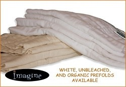 Imagine SmartFit Prefolds- the softest, most absorbent prefolds available with the lowest prices!
