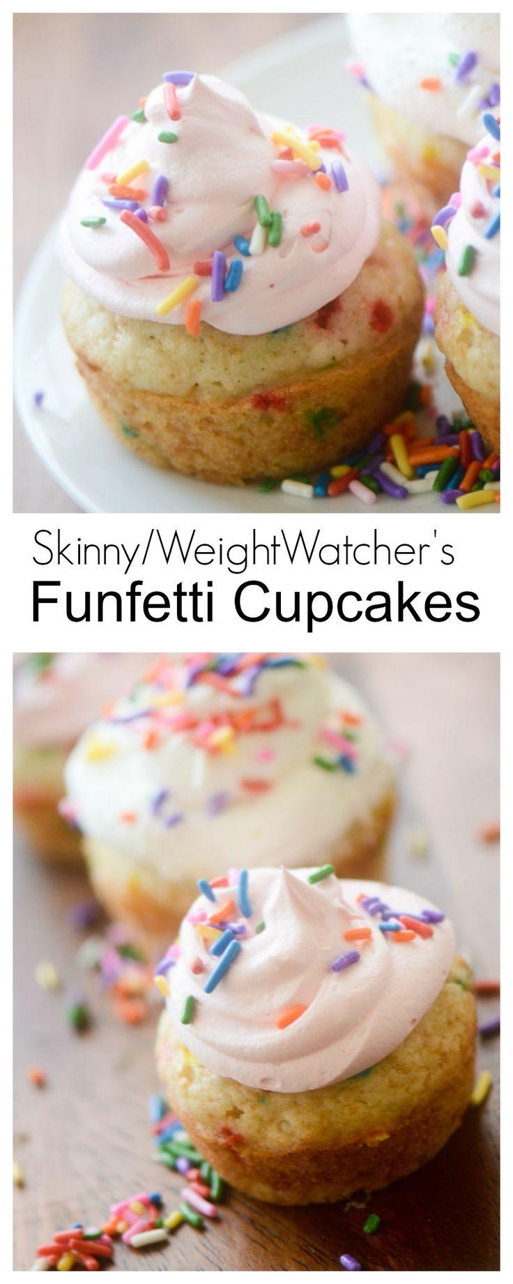 Skinny / Weight Watcher's Funfetti Cupcakes