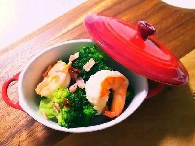 低糖質レシピ☆海老ブロペペロンチーノの画像
