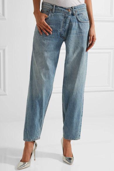 Monse - Asymmetric Mid-rise Tapered Jeans - Mid denim