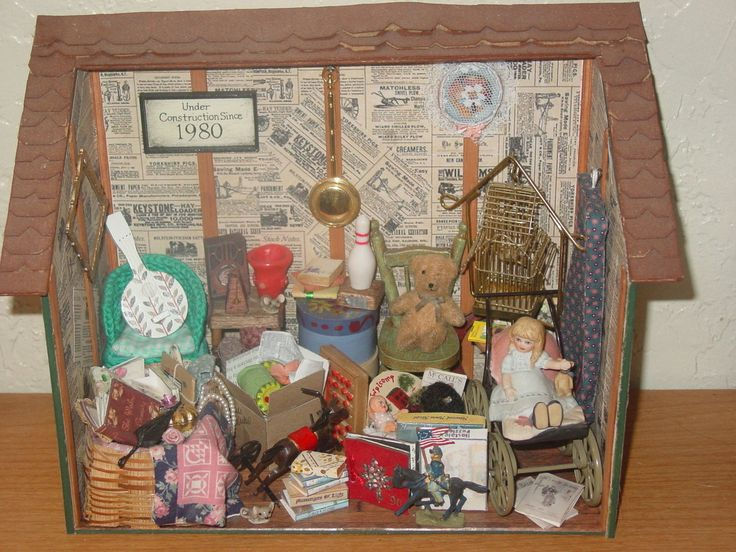 Miniature Children S Bedroom Room Box Diorama: 218 Best Images About Memory/shadow Boxes Inspiration On