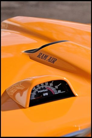 """1970 Pontiac GTO """"The Judge"""" 400 cubic inch 366 horsepower with 4-speed hood tachometer view"""