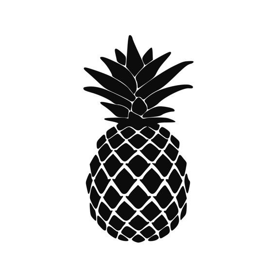 Pineapple Tropical vinyl decal Aloha 0093   Etsy in 2021 ...  Cute Pineapple Stencil