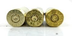 """Reloading: Brass Resizing, Keep an eye out for brass with the """"wrong"""" primer sizes like these two on the right. Even though they are .45 ACP cases, they have small pistol primer pockets. You can reload them, you just don't want to mix them in the same batch as regulars when adding new primers."""