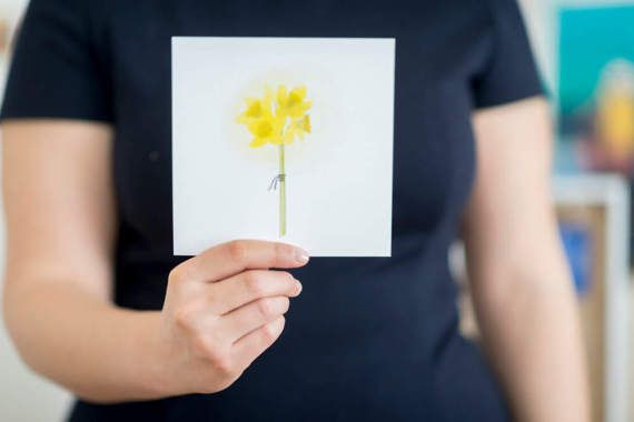 Carte postale - Bouquet de jonquilles