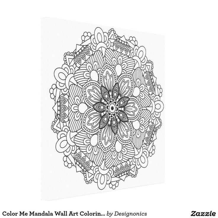 Color Me Mandala Wall Art Coloring Canvas