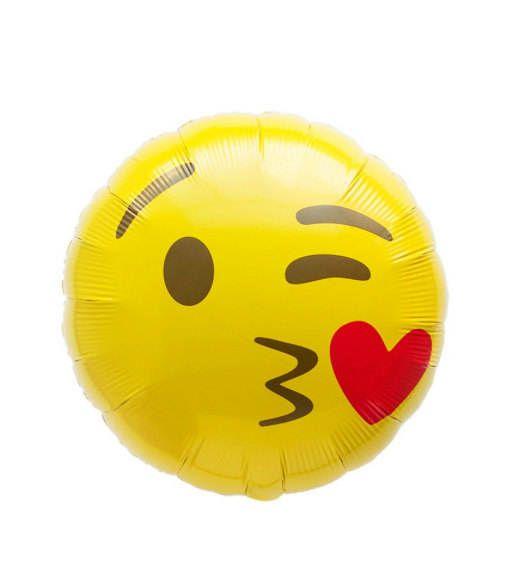 Kissy Face Emoji Balloon Grad Party Photo Booth Emoji