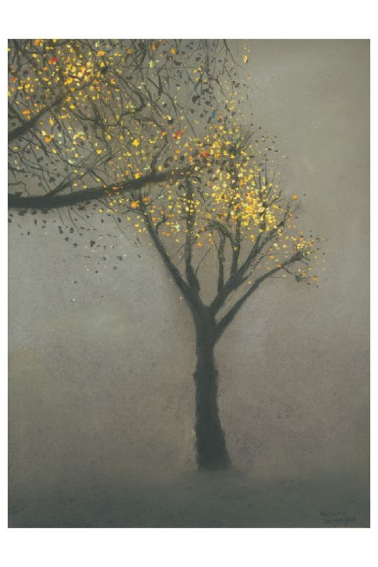 """Tree in November"" by Richard Cartwright (pastel)"