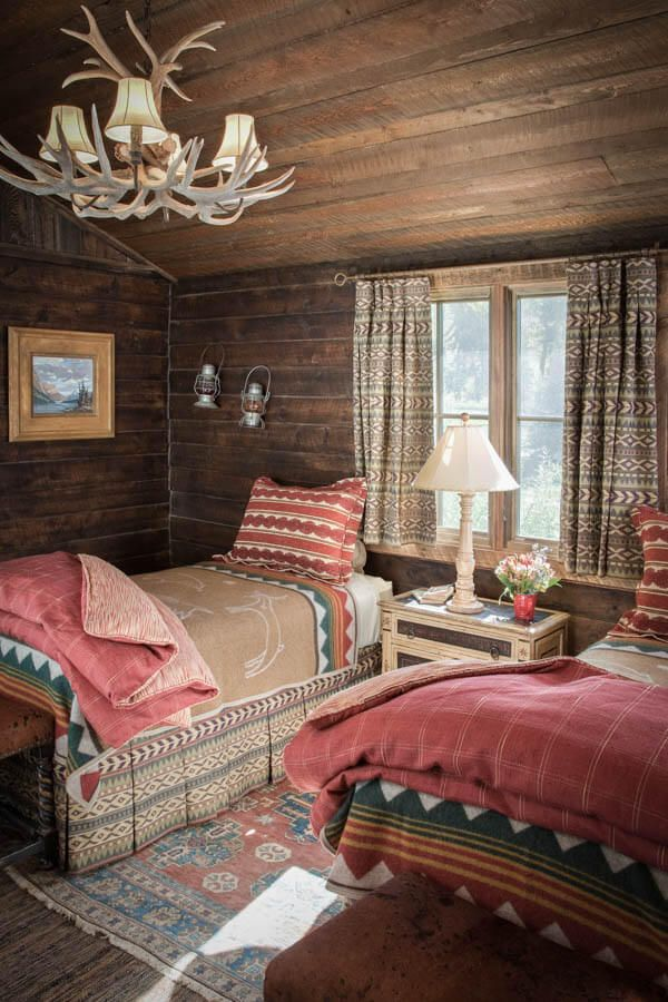 This Montana Ranch Comes With All The Country Fixinsu0027. Log Cabin BedroomsGuest  BedroomsGuest RoomRustic BedroomsShared ...