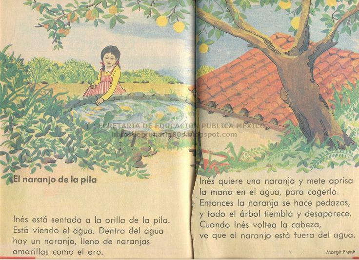 Libros de Primaria de los 80's: El naranjo de la pila (Libro de primero - Lecturas)