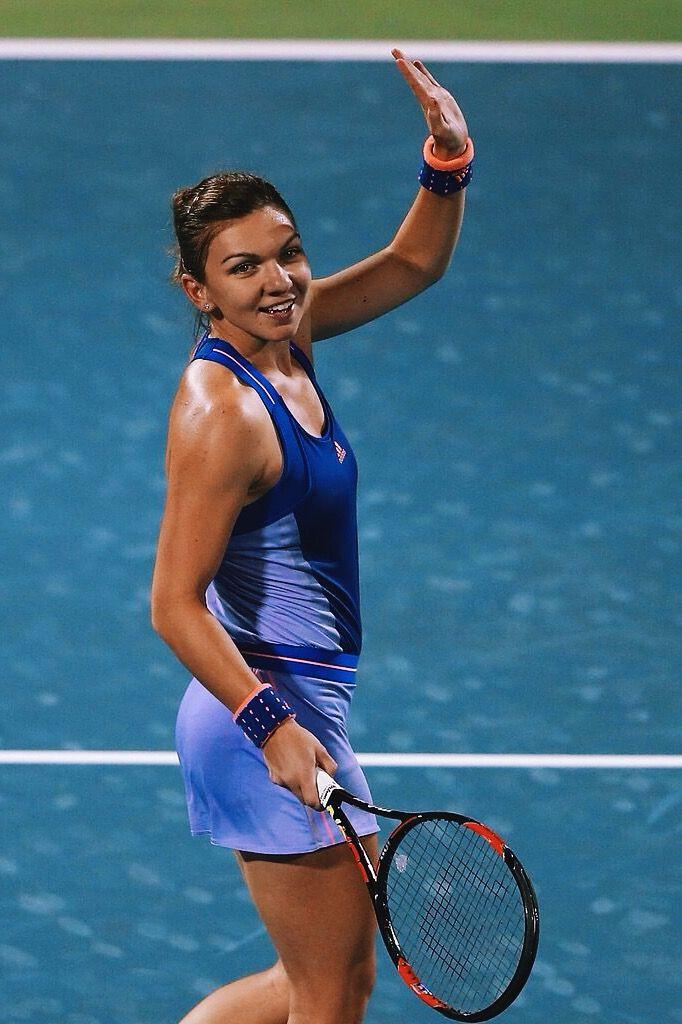 Simona Halep in Dubai 2015 #WTA #Halep #Dubai