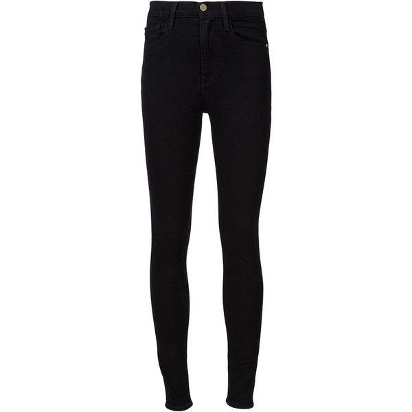 FRAME Denim Ali High Rise Skinny Jeans ($230) ❤ liked on Polyvore featuring jeans, bottoms, denim, kirna zabete, skinny jeans, highwaist jeans, high-waisted skinny jeans, skinny leg jeans and high waisted jeans