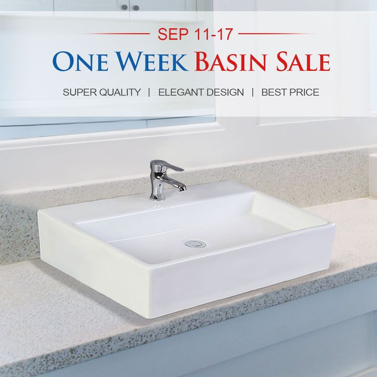 One Week Basin Sale (SEP 11-17). Super Quality, Elegant Design, Best Price.  8050 Blvd Taschereau, Local A, Brossard, QC J4X1C2 www.decoraport.ca      Tel: 1.888.861.7989