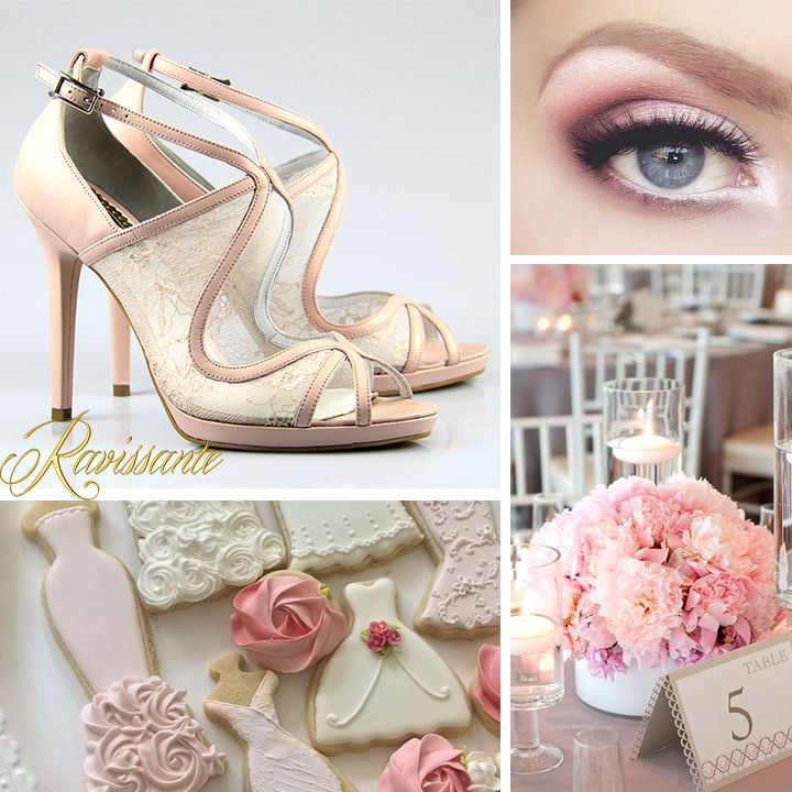 Sweet like candies - perfect wedding shoes - rose quarz & lace