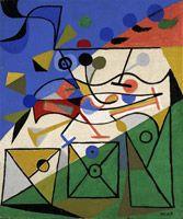 Alfred Pellan, Bouche rieuse, 1935, Huile sur jute, 55x46 cm.