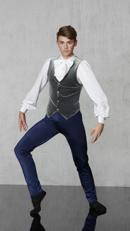 MALE PARTY SCENE / GUEST SCENE FORMAL ATTIRE / NUTCRACKER BALLET COSTUME Nutcracker Collection   1-800-292-1902 DAPPER MALE - Aristocratic slim leg jumpsuit with built in blousy sleeved top with neck bow ties and back zipper closure. Worn with stretch velvet snap front vest. Elegant lapel jacket adds the finishing finery! Made in all child and adult sizes. Choose your colors!