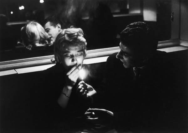 Ronis.- 77hh.- Willy Ronis.- café de la Bidule.- rue de la Huchette.- 1957