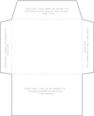 6 x 8 envelope template - invitation envelope template