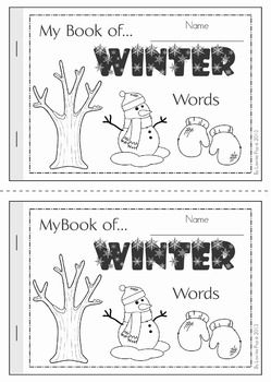 My Book of... Winter Words. A half-page vocabulary booklet to make learning new words fun! Great for a Winter writing center!