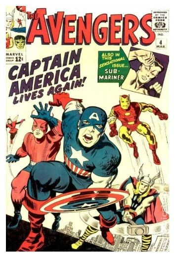 The Avengers # 4 (1963). Published: March 10, 1964. Penciller and Cover Artist: Jack Kirby.