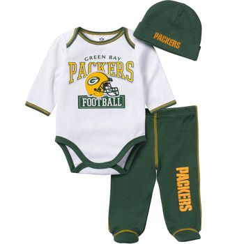 Green Bay Packers Infant Boys Bodysuit Set at the Packers Pro Shop http://www.packersproshop.com/sku/3008495080/