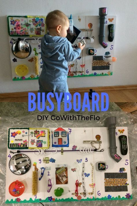 """Wir haben für Flo ein BusyBoard gebastelt, damit er nicht mehr unsere Regale ausräumt, Blumenerde herum wirft und TV Kabel herauszieht. Hier kann er wunderbar """"herum-werken"""" Busy Board, Activity Board, Toddler Activities, Beschäftigungsbrett für Kleinkinder, Activityboard, Babyblog, Baumarkt, Boy's BusyBoard, BusyBoard, DIY, DIY Projekt, Erlebnisboard, Handwerker, keeping a toddler busy, Kinderspielwand, Lernen und Spielen, Mamablog, Salzburg, Sensomotorik, Toddlerboard, Verschlüsse"""