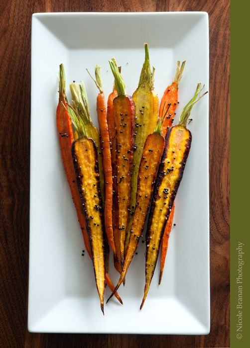 Recipe: Roasted carrots with fried black mustard seeds - The Spice Train #vegan