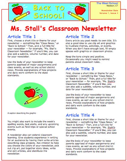 14 best Places to Visit images on Pinterest Preschool newsletter - example news letter