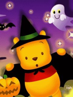 young pooh going trick or treating