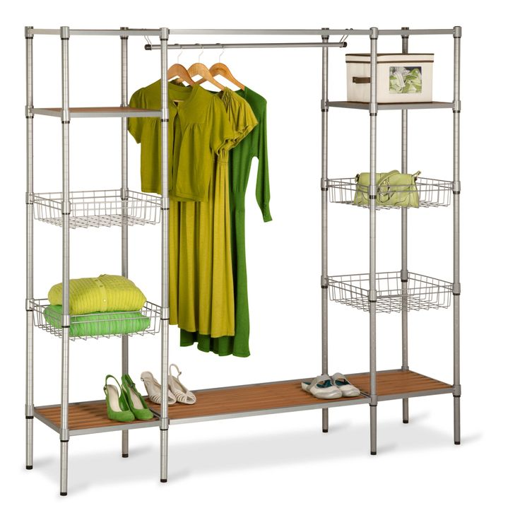 Captivating Freestanding Open Wardrobe By Honey Can Do