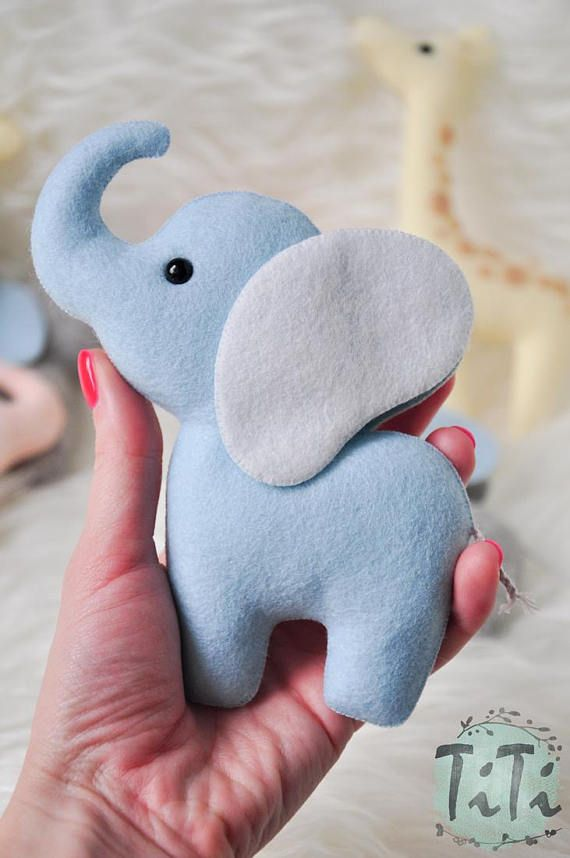 Personalized Elephant Baby Mobile Felt Baby Mobile Hot Air Balloon