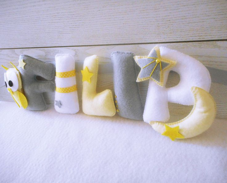 Personalized Banner - Felt Banner - Nursery Wall Art - Hanging Art - Name Garland - Custom Made - Wall Decor - Perfect Baby Gift - Name Sign by Ovchika on Etsy