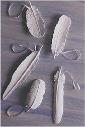 Porcelain feathers
